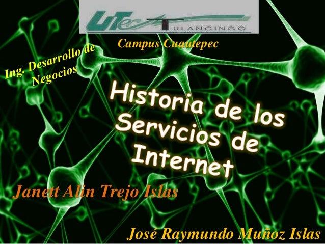 Historia de los Servicios de Internet