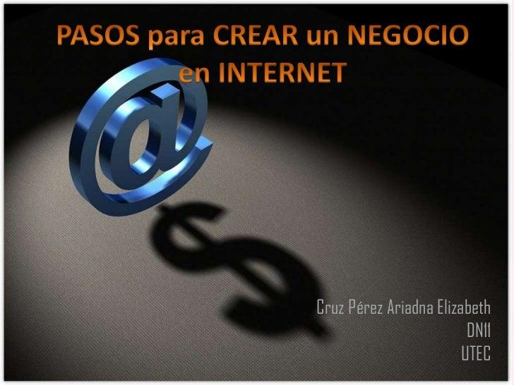 Pasos para crear un negocio en internet
