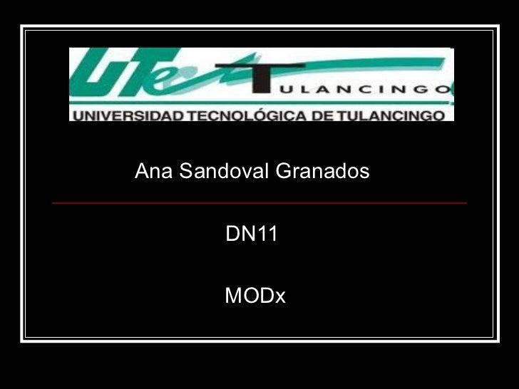 Ana Sandoval Granados  DN11  MODx