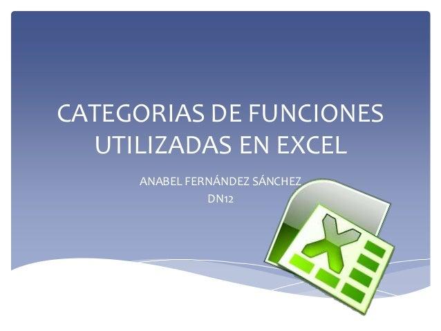 CATEGORÍA DE FUNCIONES EN EXCEL (TEXTOS)