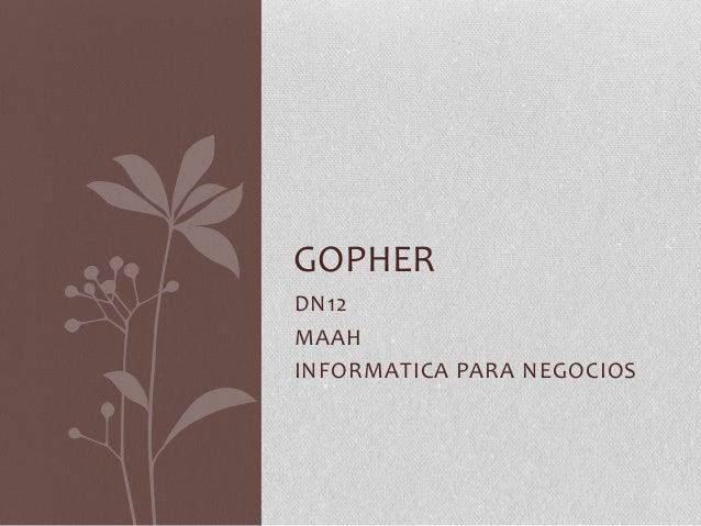 GOPHERDN12MAAHINFORMATICA PARA NEGOCIOS