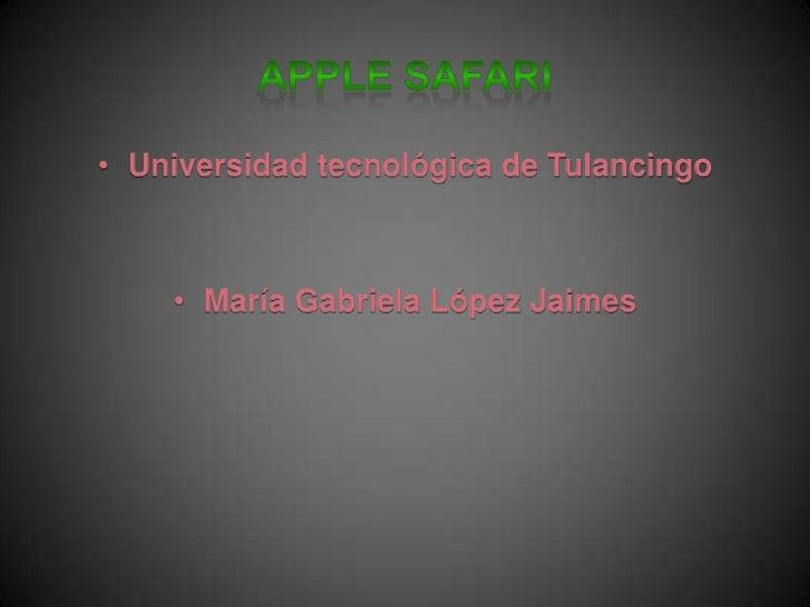 • Universidad tecnológica de Tulancingo    • María Gabriela López Jaimes