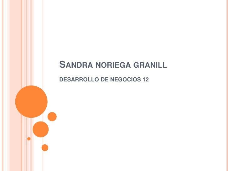 Sandra noriega granill<br />DESARROLLO DE NEGOCIOS 12<br />