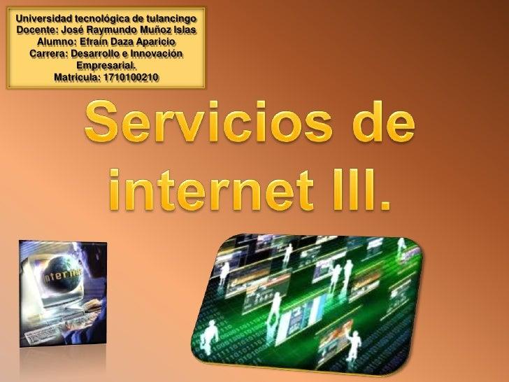 servicios de internet lll