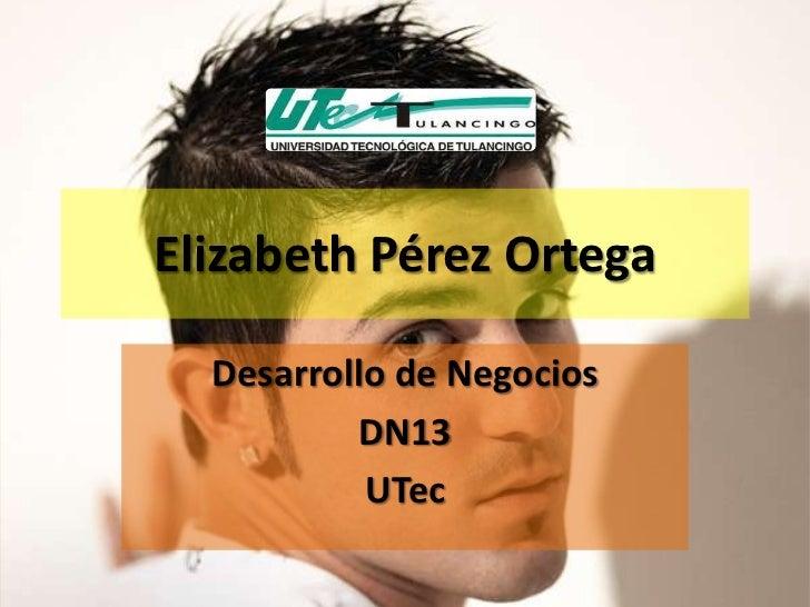 Elizabeth Pérez Ortega  Desarrollo de Negocios          DN13           UTec