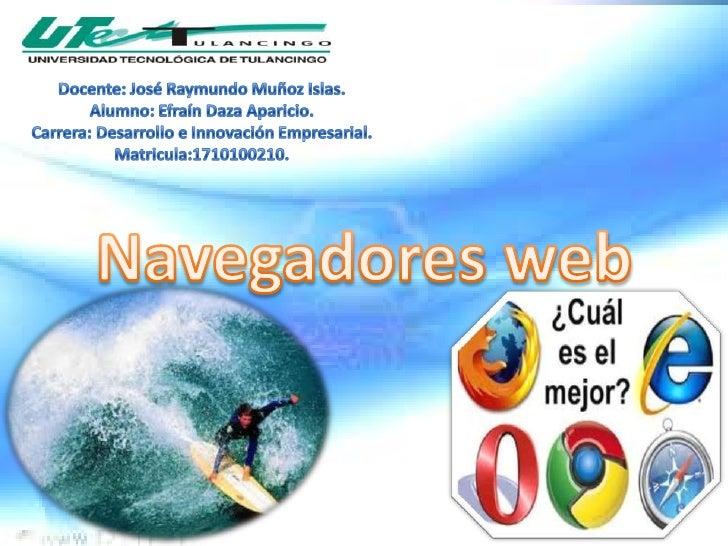 Docente: José Raymundo Muñoz Islas.Alumno: Efraín Daza Aparicio.Carrera: Desarrollo e Innovación Empresarial.Matricula:171...