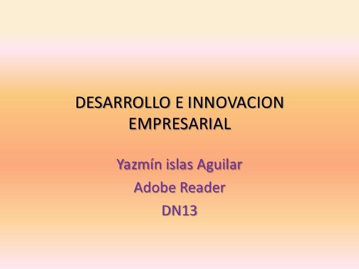 DESARROLLO E INNOVACION      EMPRESARIAL    Yazmín islas Aguilar      Adobe Reader          DN13