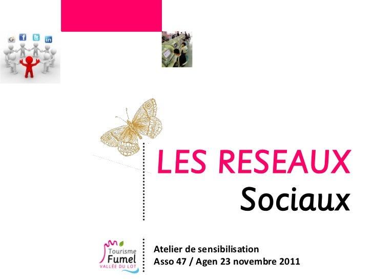 LES RESEAUX     SociauxAtelier de sensibilisationAsso 47 / Agen 23 novembre 2011