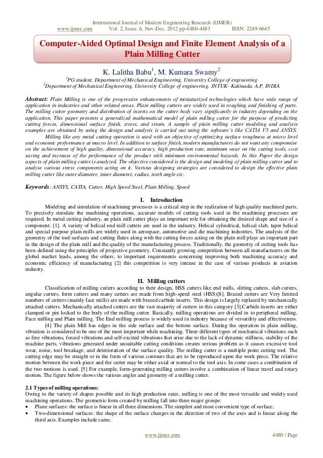 International Journal of Modern Engineering Research (IJMER)                 www.ijmer.com        Vol. 2, Issue. 6, Nov-De...