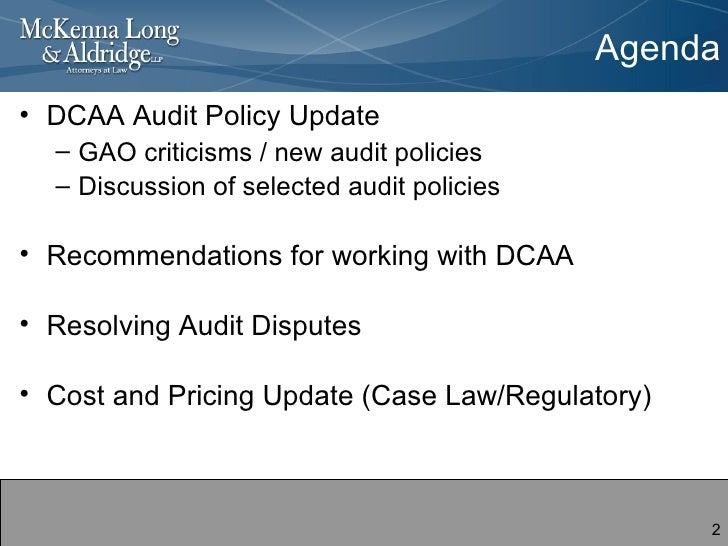 Legal Digest: DCAA Issues New Audit Guidance | PROCAS Connect