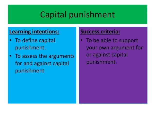Capital punishment essay against