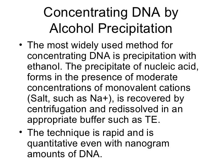 dna extraction lab report Dna dissolves in water, but not in alcohol by floating alcohol on top of our dna mixture you can create a interface layer that will allow the dna to precipitate out dna fingerprinting step 1 ) extract dna from cells step 2) replicate (copy) the dna several times over to have workable amounts.