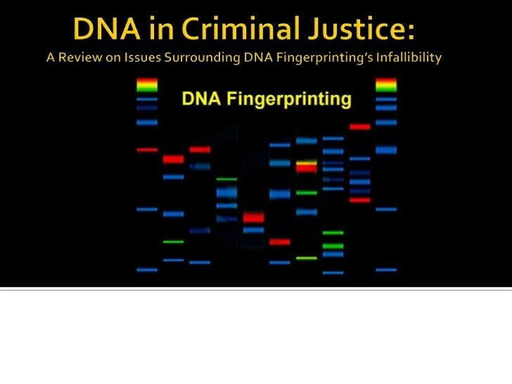 Dna in criminal justice