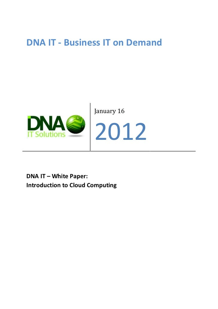 Dna It   Cloud Computing White Paper 2012