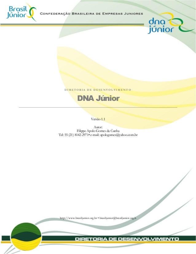 DNA Junior - criação e estruturação de empresas juniores - Brasil Jr