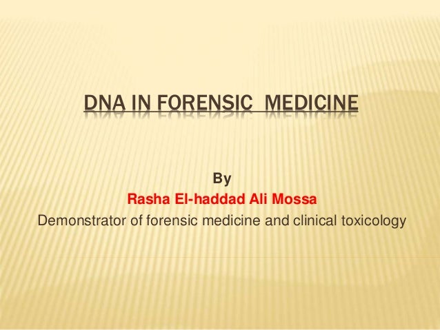 forensic dna thesis  serology serology what is serology how do forensic scientists use serology serology is the study of blood, blood serum, saliva, semen, and other bodily fluids however the reason that this became a discipline of forensic science is because forensic scientists can use the dna found from the different assortments of bodily.