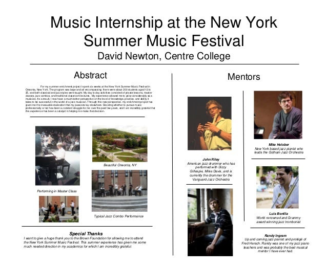 Music Internship at the New York Summer Music Festival by David Newton