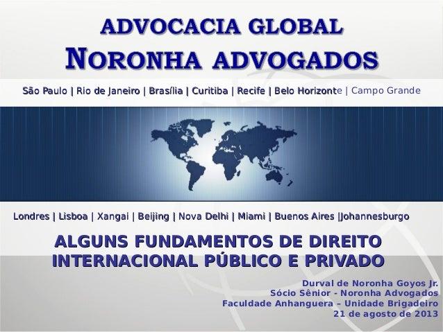 Fundamentos de Direito Internacional Público e Privado