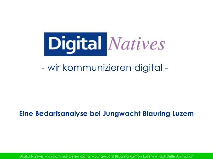 - wir kommunizieren digital -<br />Eine Bedarfsanalyse bei Jungwacht Blauring Luzern<br />