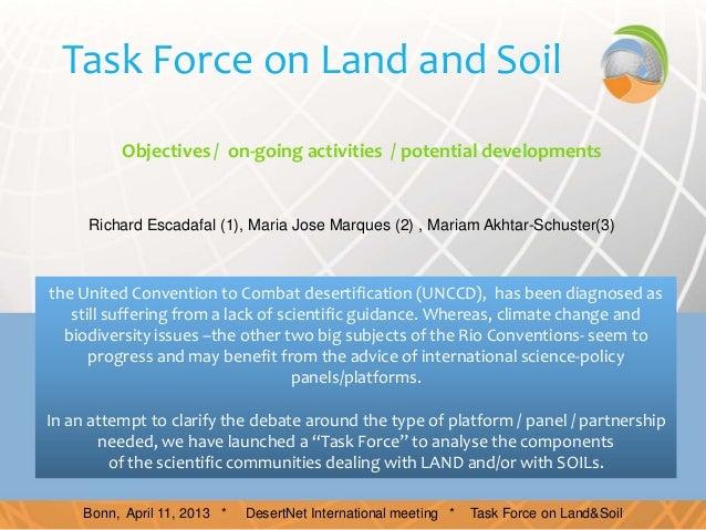"Richard ESCADAFAL ""Land and soils task force"""