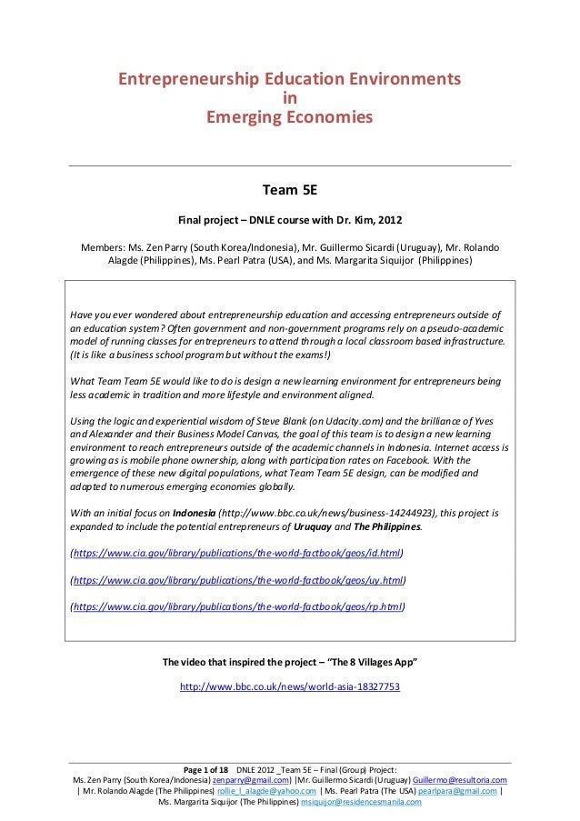 Dnle team5 e_finalgroupproject_writtenreport_dec2012