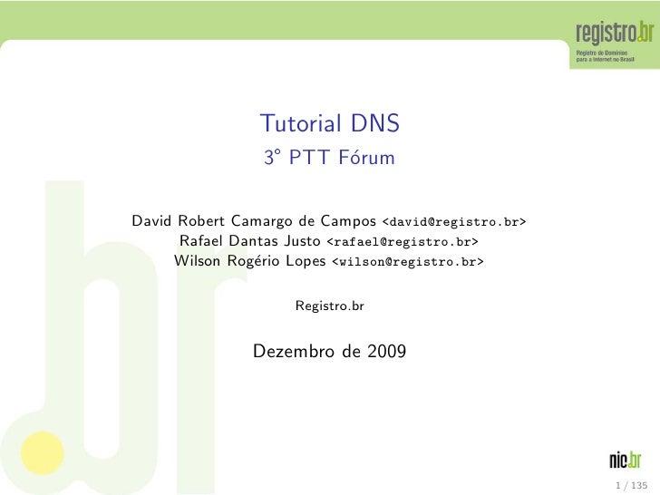 Palestra sobre DNS apresentada no 3 PTT Forum