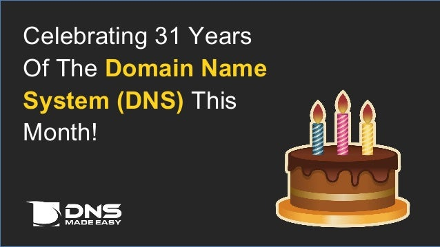 Celebrating 31 Years Of The Domain Name System Dns This Month