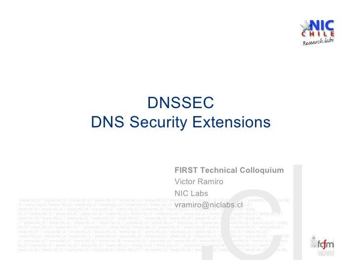 DNSSEC FIRST
