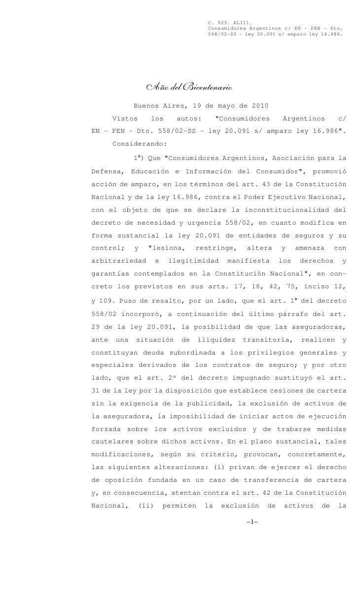 DNUs: Fallo completo de la Corte