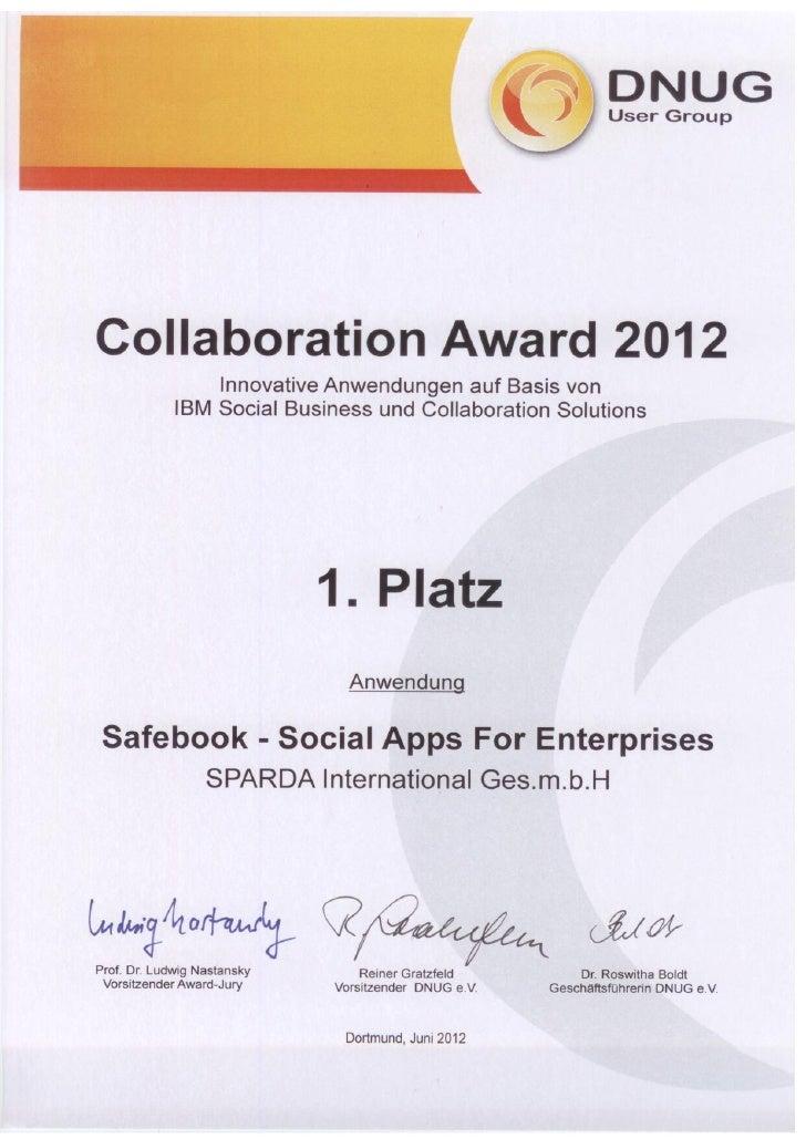 Social Business Collaboration Award 2012