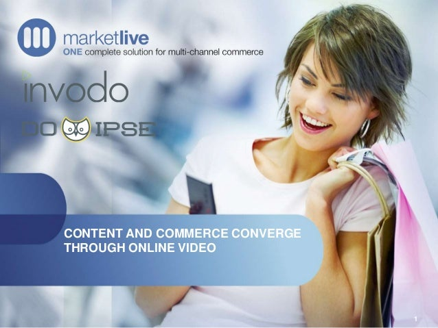 CONTENT AND COMMERCE CONVERGE THROUGH ONLINE VIDEO 1