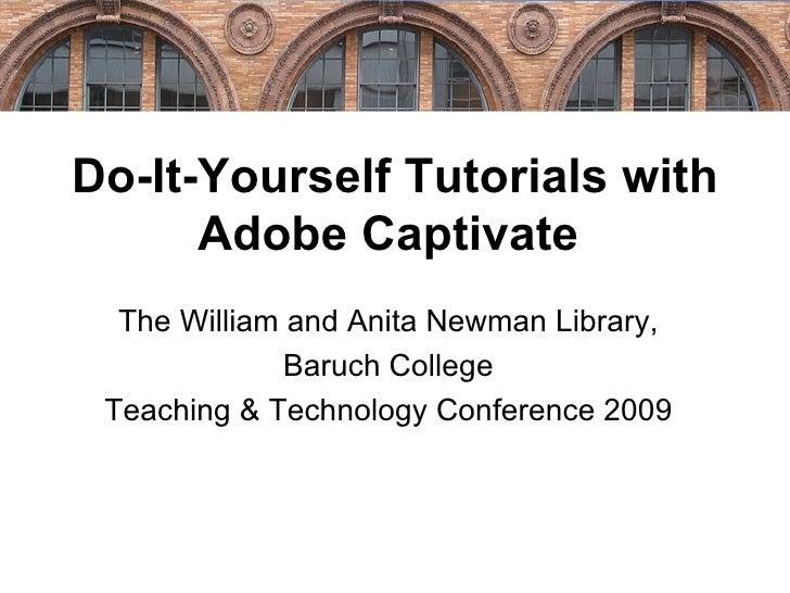 Do It Yourself Tutorials Adobe Captivate