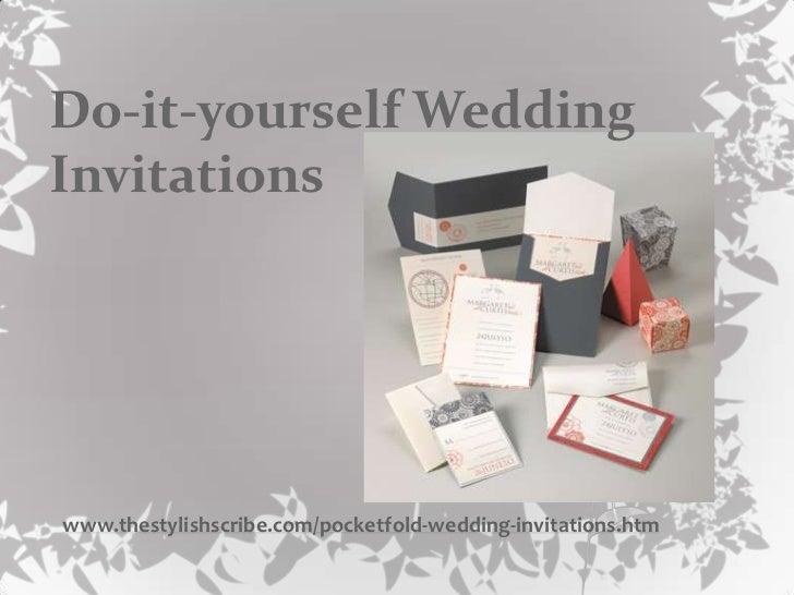 do it yourself wedding...