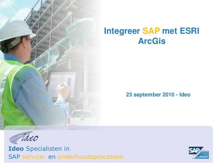 2010 - Ideo Integreer SAP met ArcGIS