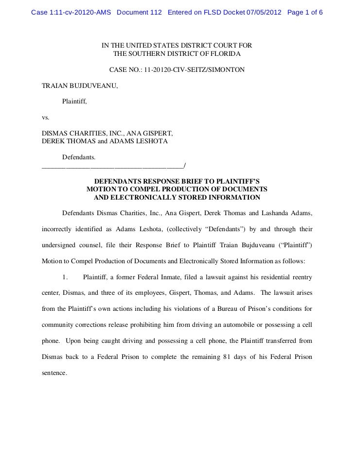 Case 1:11-cv-20120-AMS Document 112 Entered on FLSD Docket 07/05/2012 Page 1 of 6                       IN THE UNITED STAT...