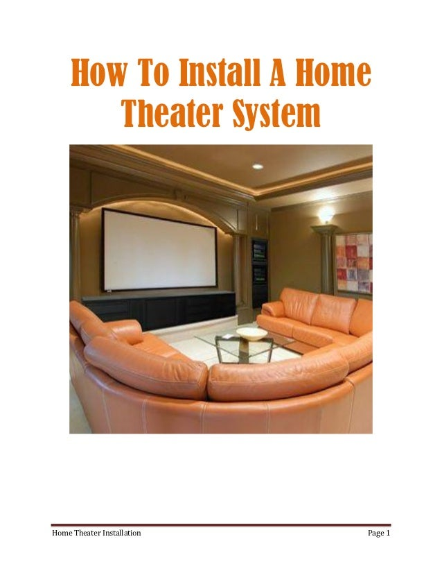 how to become a home theater installer