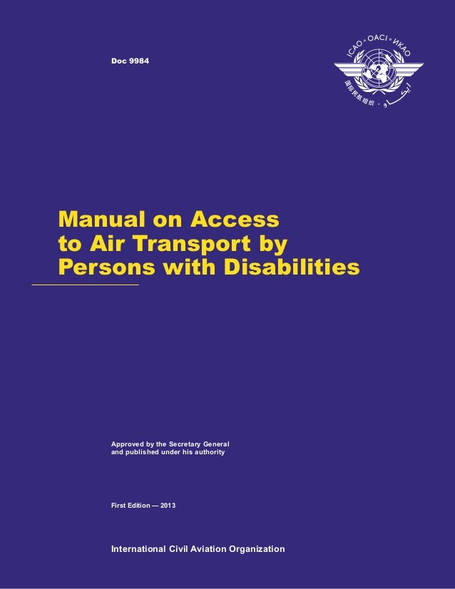 Manual on Access to Air Transport by Persons with Disabilities (2013)