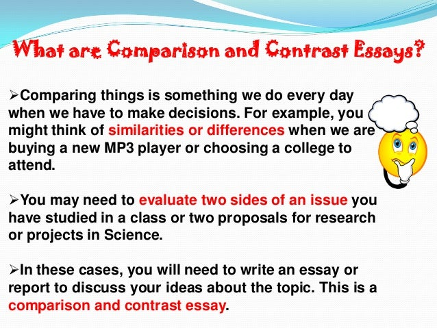 Write a Compare and Contrast Essay?