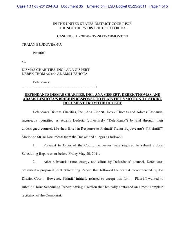 Case 1:11-cv-20120-PAS Document 35            Entered on FLSD Docket 05/25/2011 Page 1 of 5                       IN THE U...