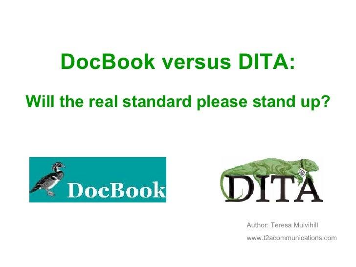 Doc Book Vs Dita