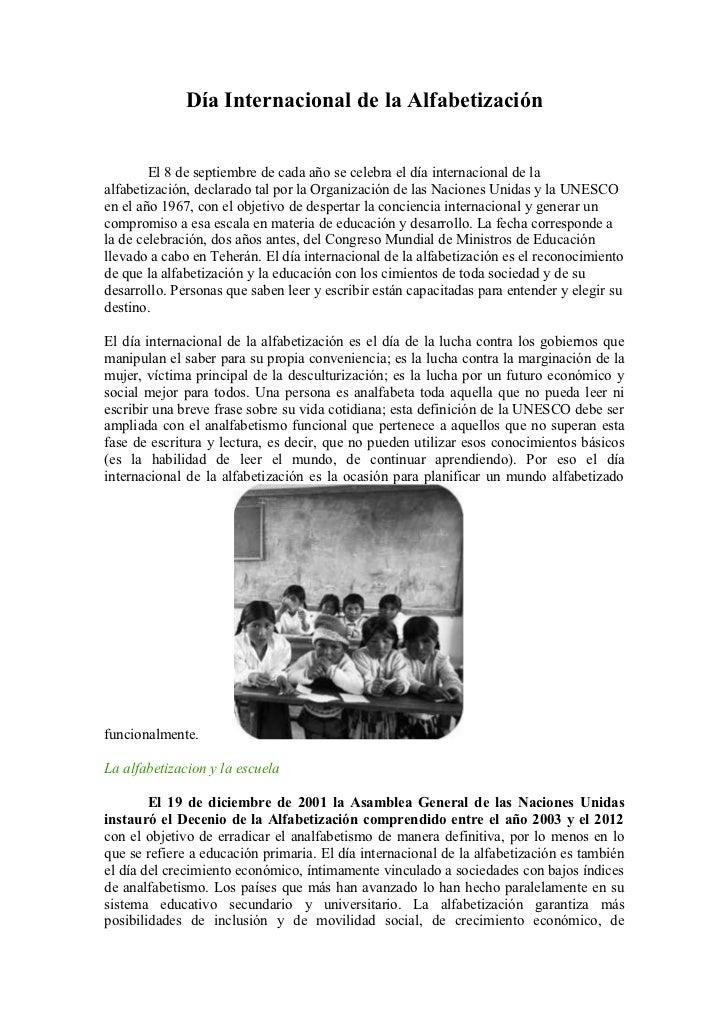 Doc. día internacional de alfabetización