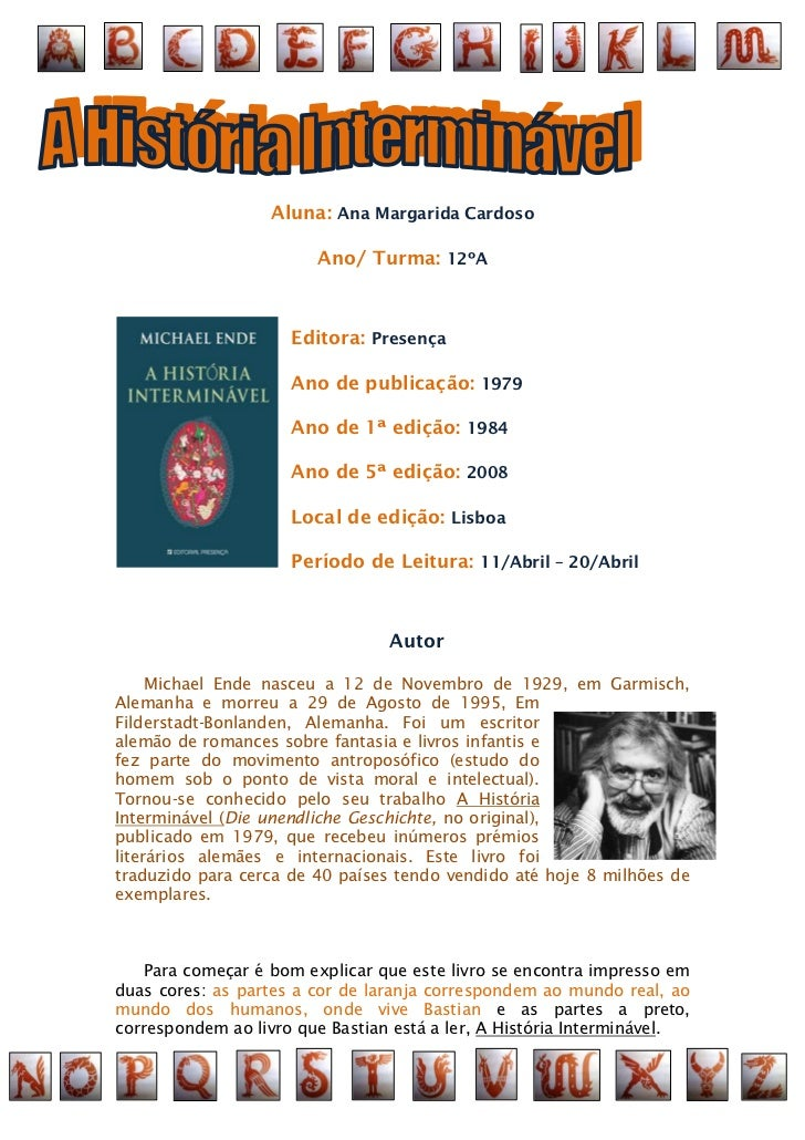 Aluna: Ana Margarida Cardoso                        Ano/ Turma: 12ºA                     Editora: Presença                ...