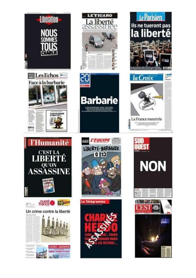 """""""Une"""" 8 janvier 2015"""