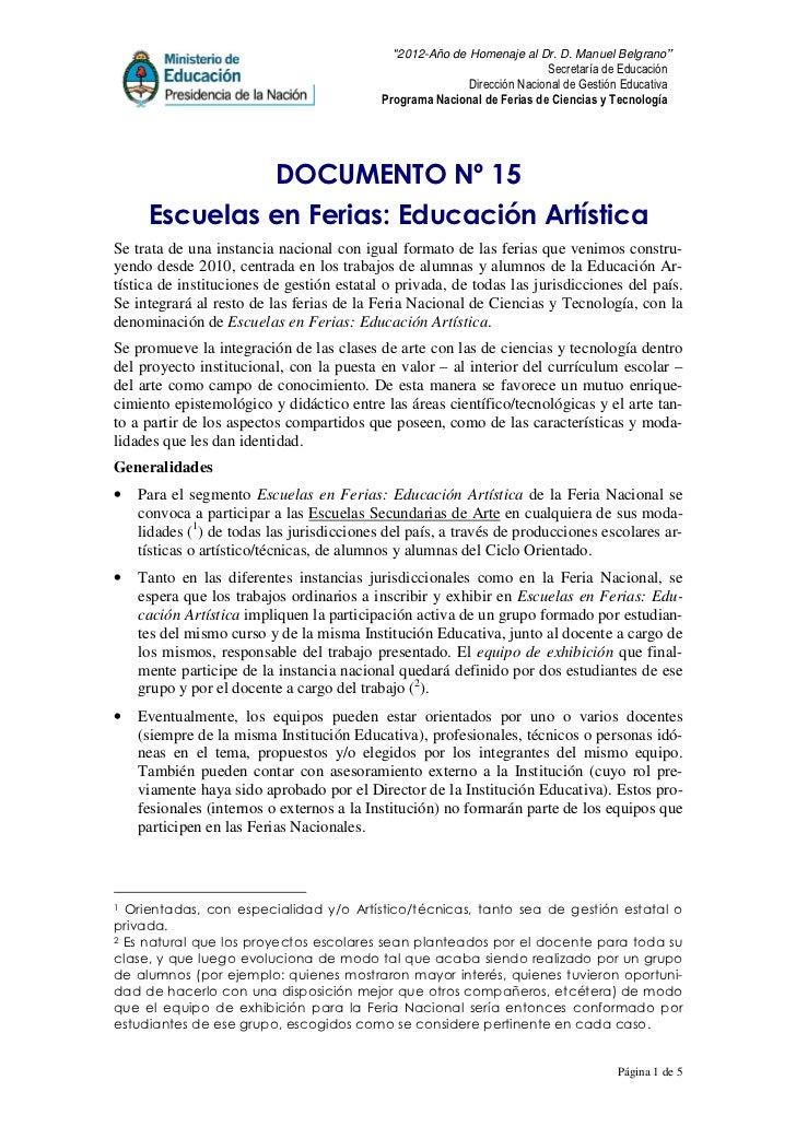 """2012-Año de Homenaje al Dr. D. Manuel Belgrano""                                                                         S..."
