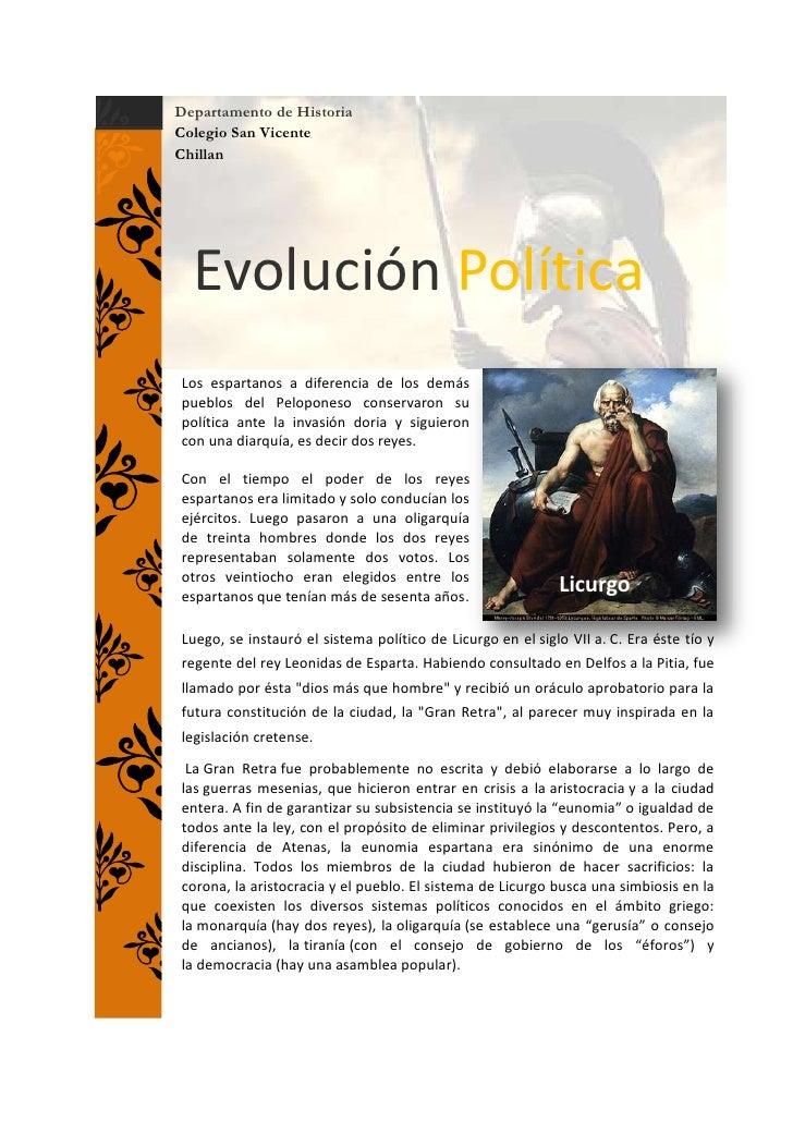 Evolucion politica de Esparta