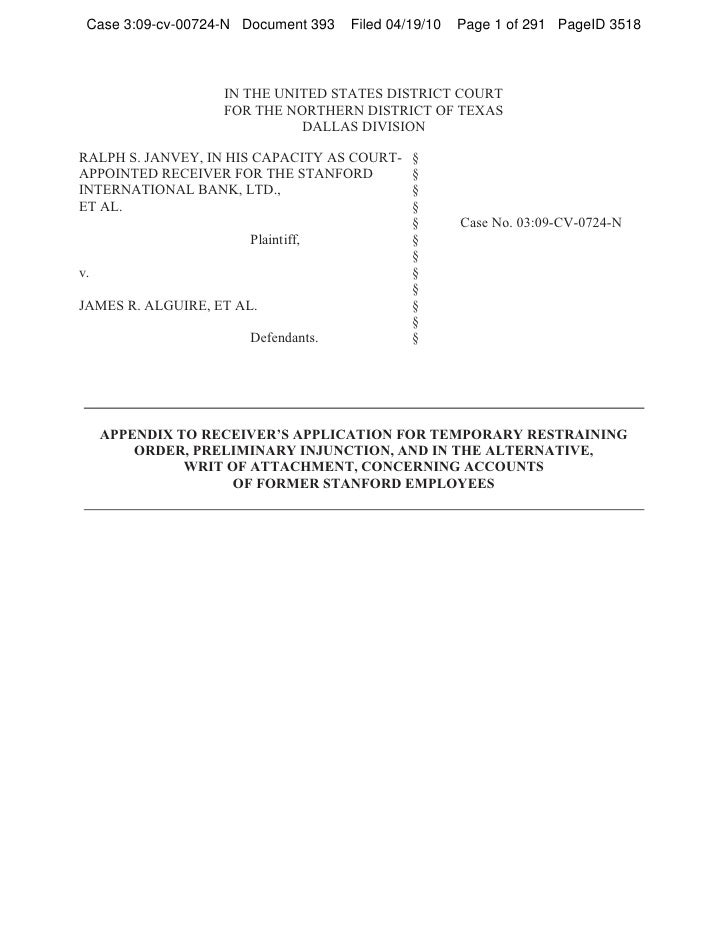Case 3:09-cv-00724-N Document 393   Filed 04/19/10   Page 1 of 291 PageID 3518                   IN THE UNITED STATES DIST...