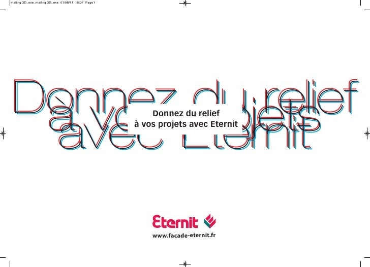 Donnez projets       du relief à vos Eternit         Donnez du relief avecà vos projets avec Eternit         www.facade-et...