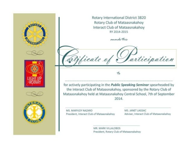 certificate of participation maryjoy nazaro