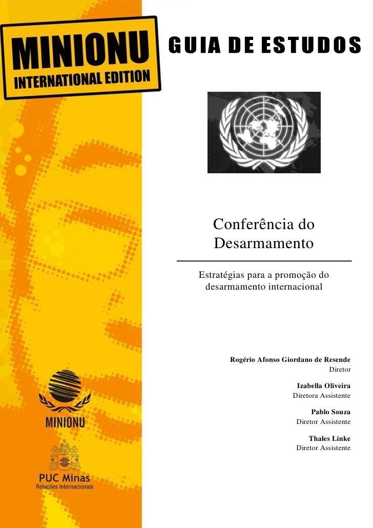 1   Conferência do   DesarmamentoEstratégias para a promoção do desarmamento internacional       Rogério Afonso Giordano d...