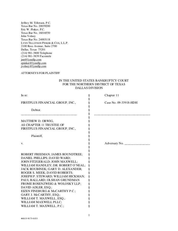 Doc577 complaint action against officers directors legal audit etc